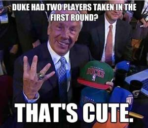 UNC basketball meme