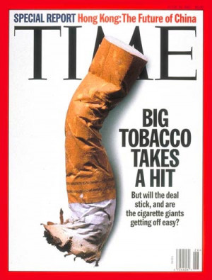 Tobacco industry lawsuit settlement.
