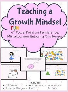 Teaching a Growth Mindset Interactive Powerpoint- Teaches about ...