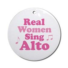 Alto Singer Music Ornament (Round) for