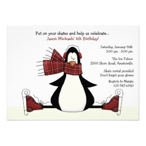 Ice Skating Party Invitation from Zazzle.com