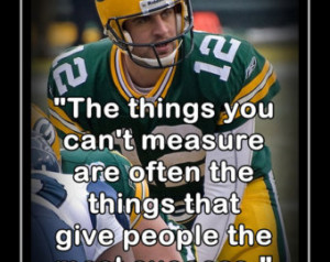 Aaron Rodgers Green Bay Packers Photo Quote Poster Wall Art Print 8x11 ...