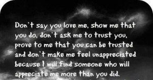 Show Me You Love Me Quotes