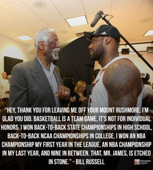 Bill Russell Has Great Response to Being Left off LeBron James' Mount ...