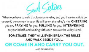 Soul Sisters, Friendship. Girlfriends.