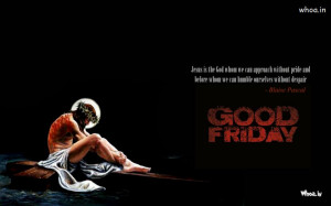 ... Good Friday,Good Friday Quote in Black Background With Jesus on Cross