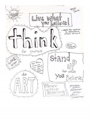Think for Yourself Coloring Page by LivingCreatively