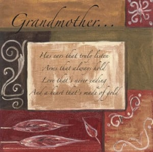 Words to Live By, Decor...Grandmother ~ Fine-Art Print