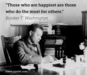 ... happiest are those who do the most for others