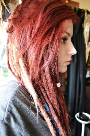 Personal red hair dreads dreadlocks red dreads