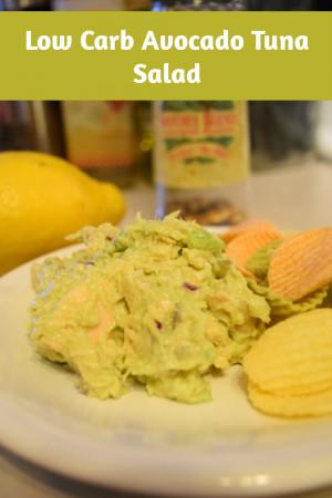 Low Carb Avocado Tuna Salad