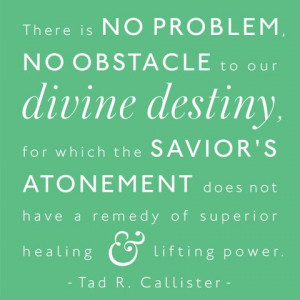 There is no problem, no obstacle to our divine destiny, for which the ...