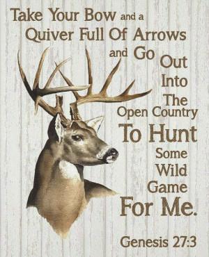 Hunting Bible Verse