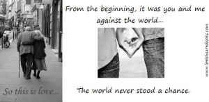 You And Against The World...