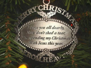 Quotes for lost loved ones at christmas