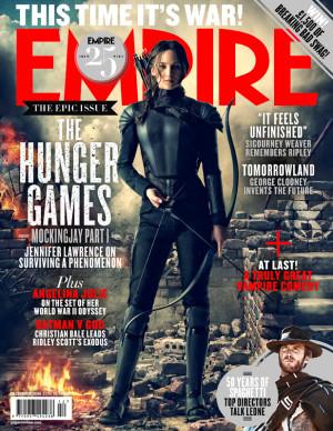 "... as Katniss Everdeen in ""The Hunger Games: Mockingjay – Part 1"