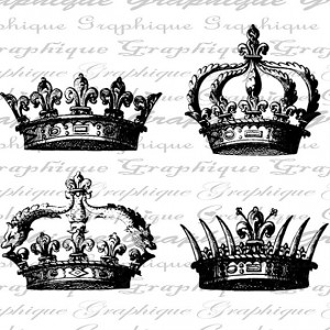 Crowns Crown Royal Queen King Digital Image Download by Graphique is ...