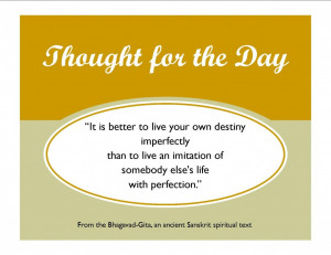 Sanskrit Quote_It is better to live your own destiny