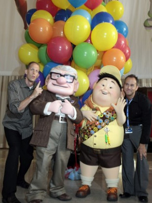 Pete Docter, far left, directed Pixar's Up which won an Oscar for Best ...