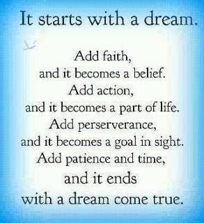 It starts with a dream.