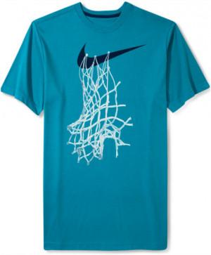 Nike Shortsleeve Graphic Basketball Net Tshirt in Blue for Men ...