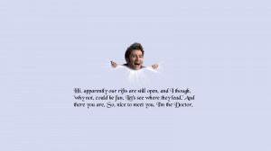 Doctor Who Quote Wallpaper Tv show - doctor who wallpaper