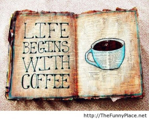 Coffee awesome quote with wallpaper Coffee awesome quote with
