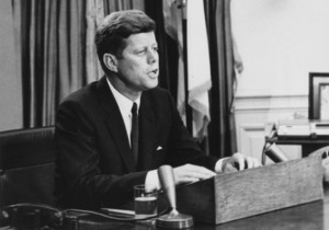 John F. Kennedy delivering the Civil Rights Address (Wikimedia Commons ...