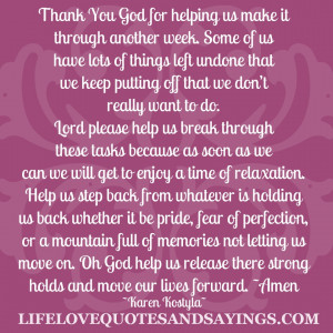 Thank You God For Helping Us..