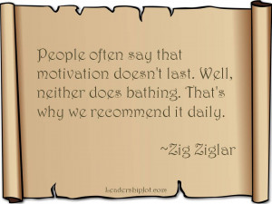 Zig Ziglar Quote on Motivation