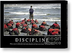 Navy Seals Canvas Prints - Discipline Inspirational Quote Canvas Print ...