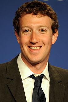 Mark Zuckerberg en mai 2011 lors de la conférence de presse au sujet ...