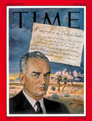 Barry Goldwater on the cover of Time, June 23, 1961. (Image Source ...