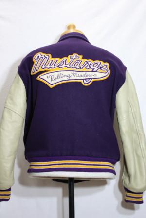 Vintage Mustangs Rolling meadows Varsity Letterman Jacket