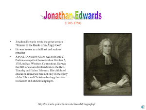 ... Results for: Sinners In The Hands Of An Angry God By Jonathan Edwards