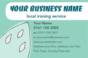 Ironing and Laundry Services Business Card by Ashley Moore
