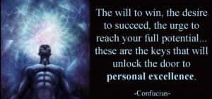 ... these are the keys that will unlock the door to personal excellence