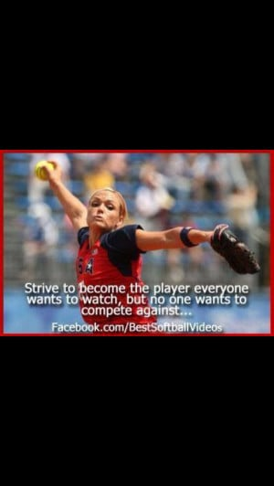 Jennie finch and her quotes are perfect More