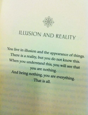 Illusion reality quote