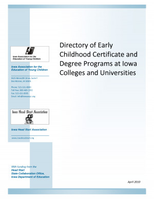 Directory of Early Childhood Certificate and Degree Programs at - PDF