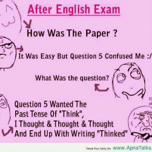 Funny!!! After English Exam...