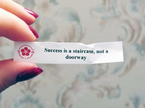cookie, doorway, fortune, paper, quote, sucess, text, win