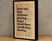 quotations poetry sayings printed on top of book pages from etsy this ...
