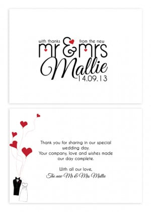 Mocha Wedding Thank You Cards