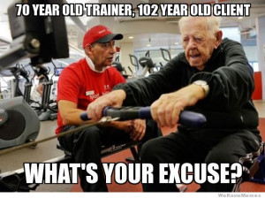 70 year old trainer, 102 year old client. What's your excuse?