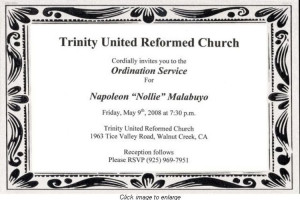 Pastor Ordination Service Program