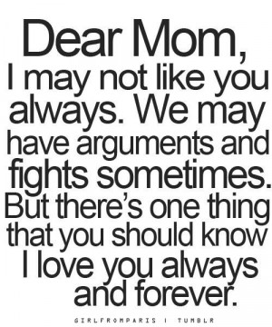 love you mom quotes from daughter tumblr