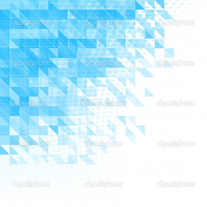 ... blue background with triangles, squares and lines - Stock Illustration