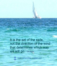 Sailing quote. It is the set of the sails... http://pinterest.com ...