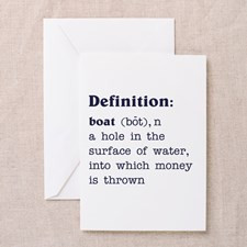 Boat Definition Greeting Card for